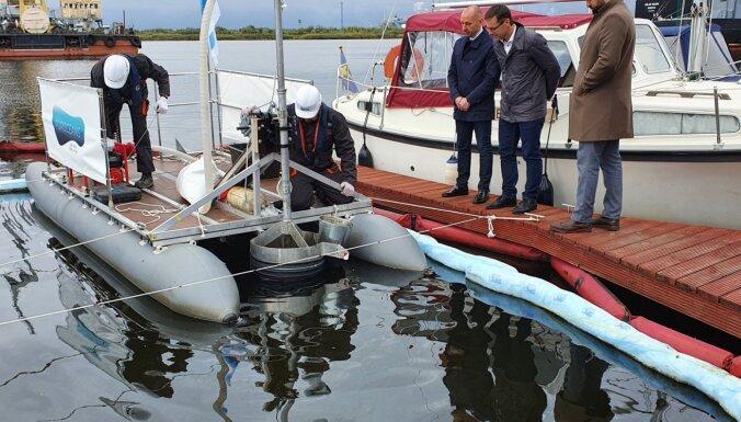 Новые инновационные технологии очистки грунта проходят испытания в Рижском порту