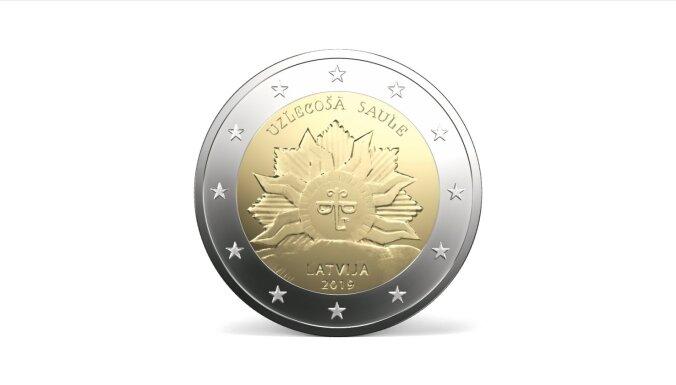 ФОТО: В Латвии в обращение поступит новая монета номиналом в 2 евро