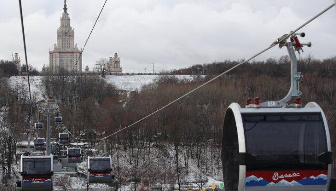 Новая канатная дорога в Москве проработала всего два дня и сломалась