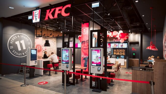 ФОТО: В Риге открылся новый фастфуд-ресторан KFC