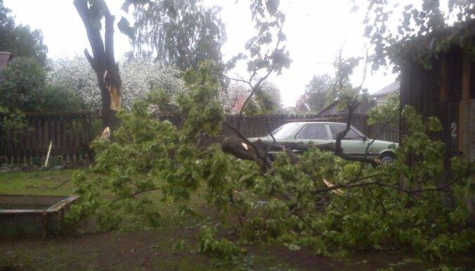 Pērkona negaiss nav radījis nopietnus bojājumus elektropagādē