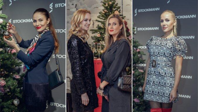 Foto: Sabiedrības dāmas pulcējas izsmalcinātā pirmssvētku modes burziņā