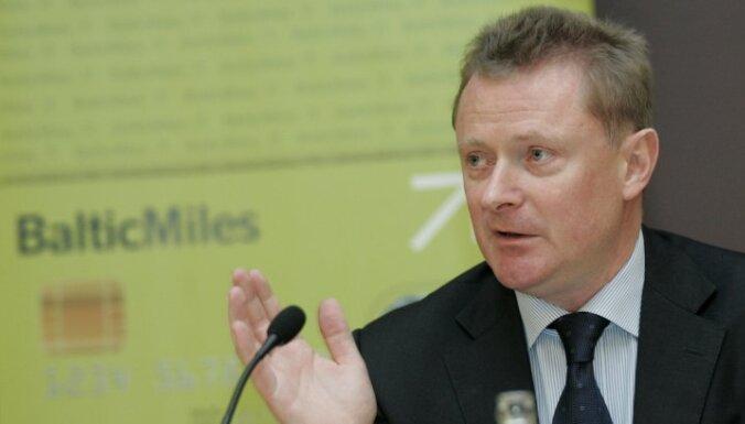 AirBaltic prezidents un izpilddirektors Bertolds Fliks preses konferenc