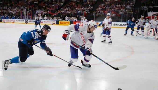 Somijas izlase izcīna grūtu uzvaru pagarinājumā pār Norvēģiju