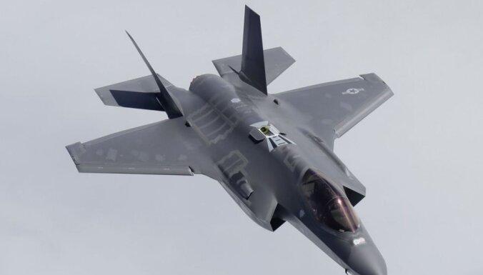 ФОТО, ВИДЕО: В Эстонии приземлились новейшие американские истребители F-35