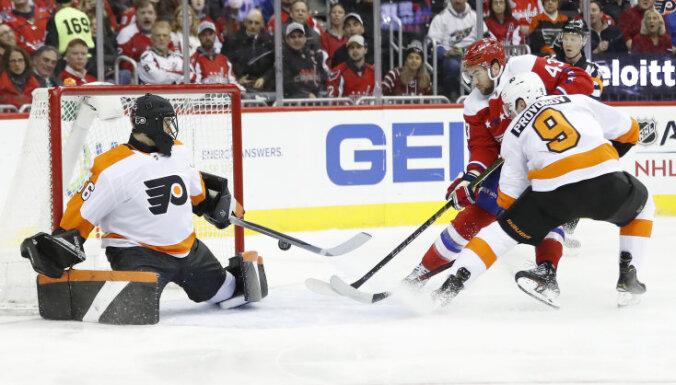 Traumas un savainojumi liek Filadelfijas 'Flyers' sasniegt vārtsargu skaita rekordu NHL