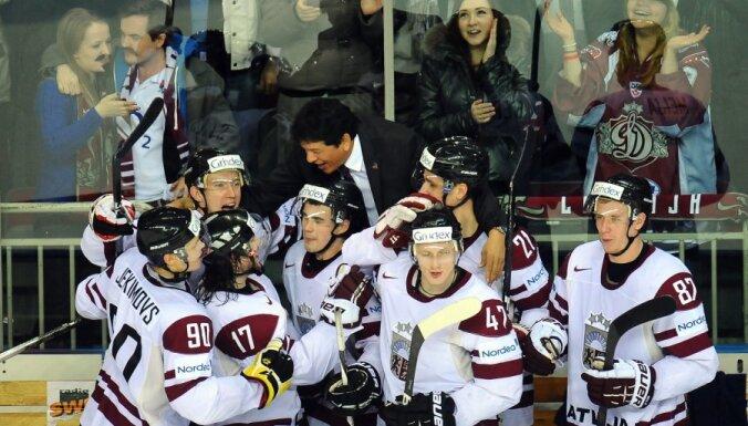 Latvijas hokejisti dramatiskā cīņā iegūst ceļazīmi uz Soču Olimpiādi