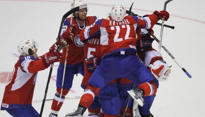 VIDEO: norvēģu hokejistu sensacionālā uzvara pār Zviedriju