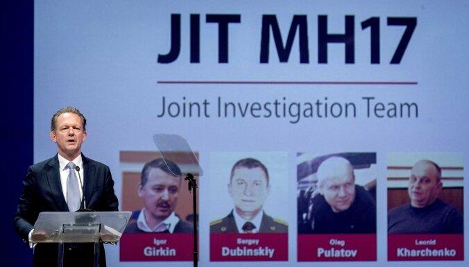 MH17: izmeklētāji nosauc četru lidmašīnas notriekšanā aizdomās turēto uzvārdus