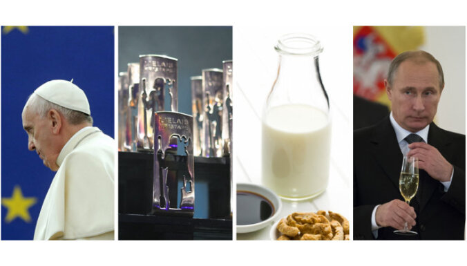 Pāvests Strasbūrā, 'Lielais Kristaps', 'Coca – Cola' tirgos pienu un Krievijas analītiķis brīdina Baltiju