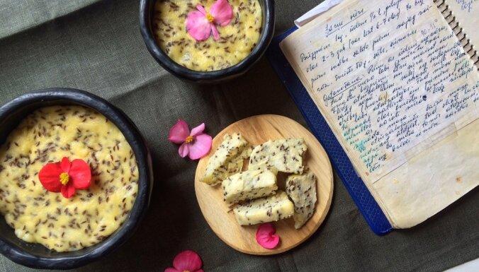 Tradicionālais Jāņu siers ar ķimenēm