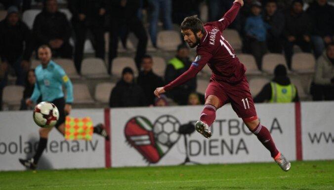 Latvijas futbola uzbrucējs Karašausks karjeru turpinās Kazahstānas čempionātā