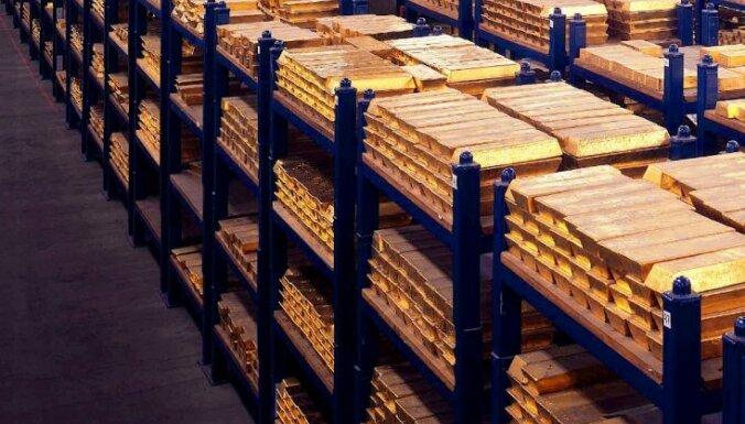 Цена золота достигла минимума с февраля 2010 года