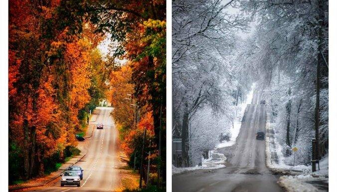 Viena vieta, cits gadalaiks: Rēzeknē tapušas interesantas fotogrāfijas