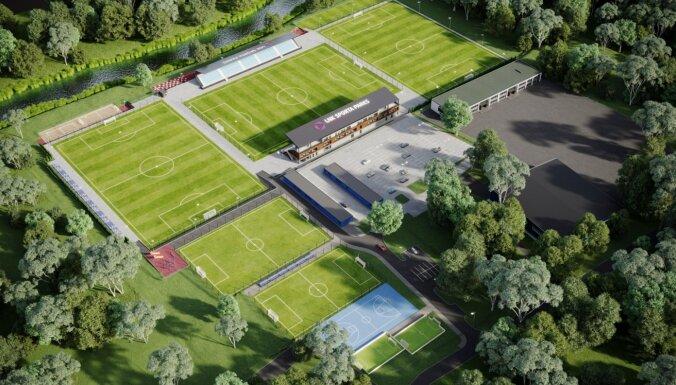 ФОТО: в Валдлаучи возводят крупнейший в Латвии частный спортивный комплекс