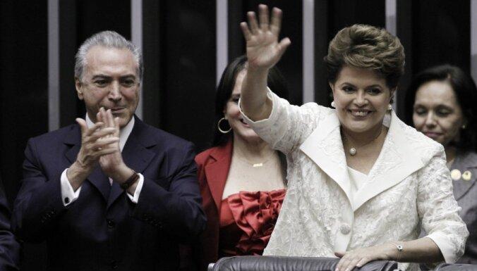 Zvērestu nodevusi Brazīlijas pirmā prezidente–sieviete