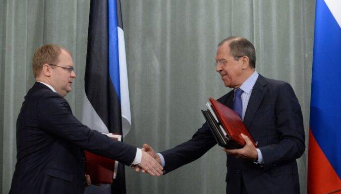 Эстония и Россия подписали договор о границе