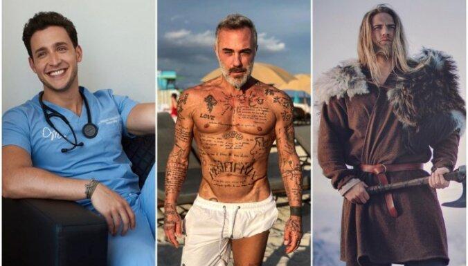 Žilbinošais dakteris, matemātikas pasniedzējs un flotes leitnants – astoņi kārdinoši vīrieši 'Instagram'