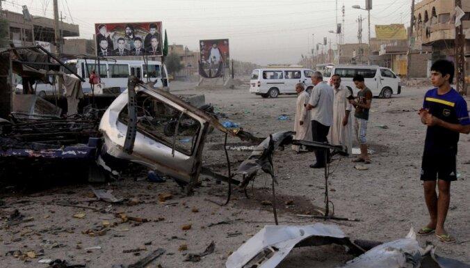 Sprādzienos Bagdādē gājuši bojā vismaz 24 cilvēki