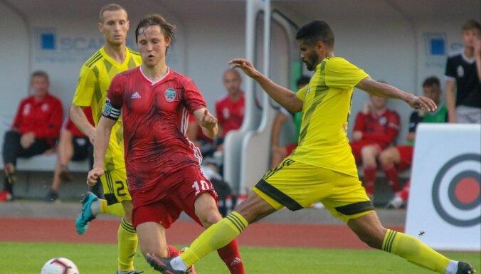 Latvijas futbola virslīgas Kurzemes derbijā uzvaru izcīna 'Ventspils'