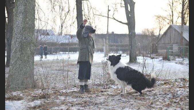 Filmas 'Puika ar suni' četrkājainais aktieris mājās gana papagaili un jūras cūciņu