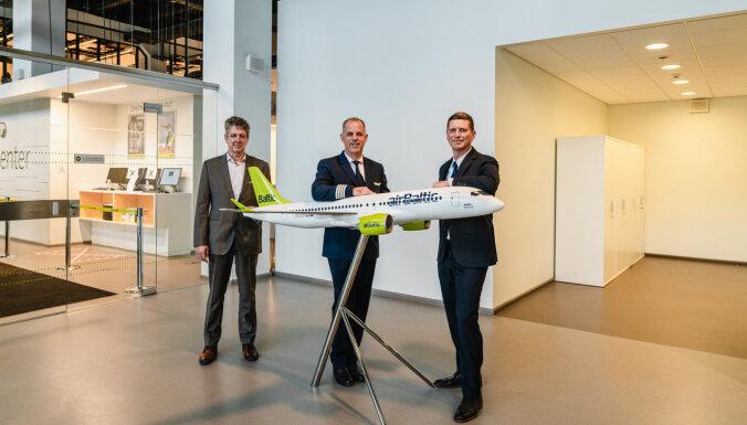"""Президент airBaltic получил """"права"""" на управление самолетами Airbus A220"""