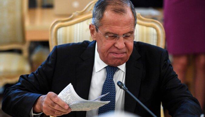Karš Sīrijā ir beidzies, apgalvo Lavrovs