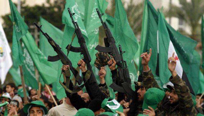 Gazā atzīmē HAMAS dibināšanas 25.gadadienu