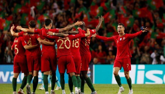 Portugāles futbolisti kļūst par pirmajiem UEFA Nāciju līgas čempioniem