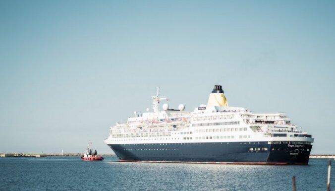 ФОТО: Порт Лиепаи впервые за многие годы принял круизный лайнер