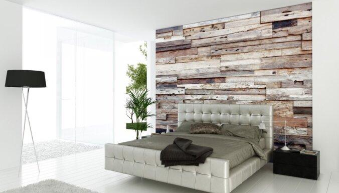 Koka dēlīši sienu apdarei – idejas oriģinālam interjeram