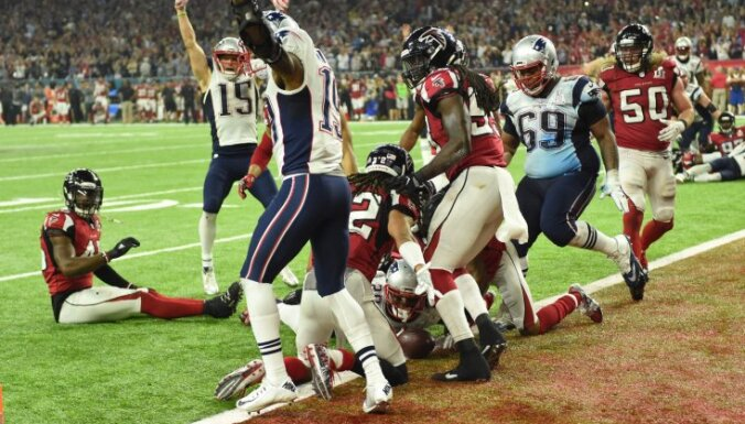 James White New England Patriots scores winning touchdown