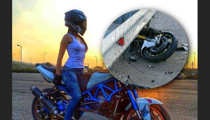 Vladivostokā avārijā bojāgājusi 'Instagram' soctīklā populāra motocikliste
