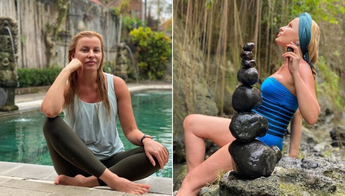 Krāšņi kadri: Agnese Zeltiņa garīgi pilnveidojas Bali