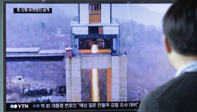 Ziemeļkoreja izmēģinājusi jaunu raķešu dzinēju