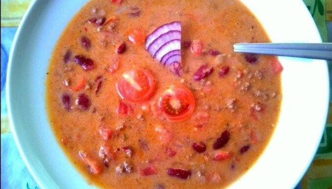 Maltās gaļas meksikāņu zupa