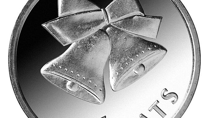 Apgrozībā laidīs lata monētu ar Ziemassvētku zvaniņu