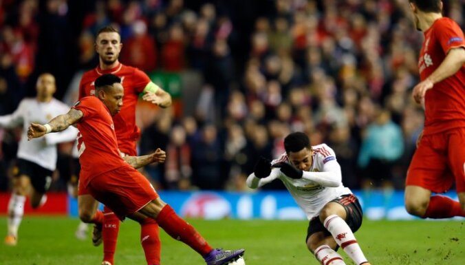 Manchester United' Anthony Martial vs Liverpool's Nathaniel Clyne