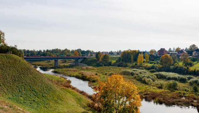 ФОТО. Осенняя прогулка по парку Бауского замка