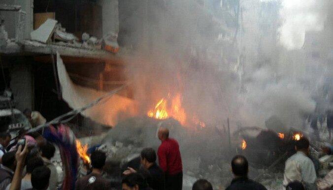 Сирийские самолеты нанесли удар по деревням у границы