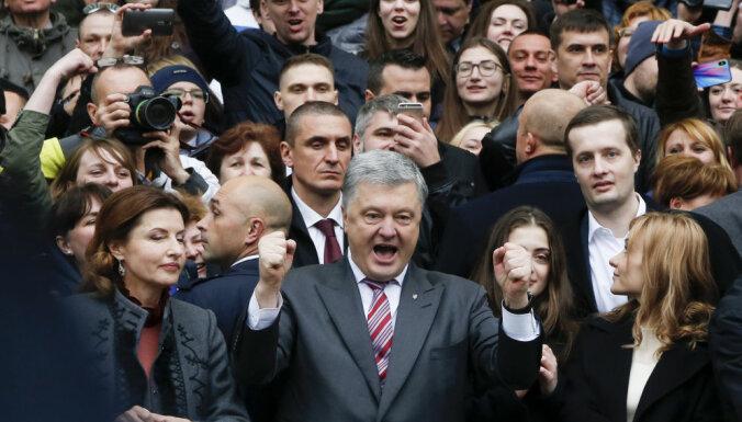 """Порошенко не дождался Зеленского на стадионе """"Олимпийский"""""""