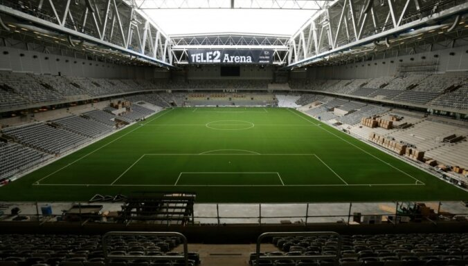 Grib uzspridzināt tikko uzcelto Stokholmas futbola stadionu