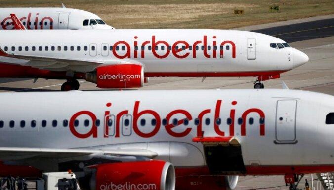 Vācijas 'Air Berlin' paziņo par maksātnespēju