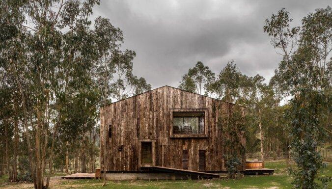 Foto: Skaista savā vienkāršībā – koka brīvdienu māja Čīles mežos