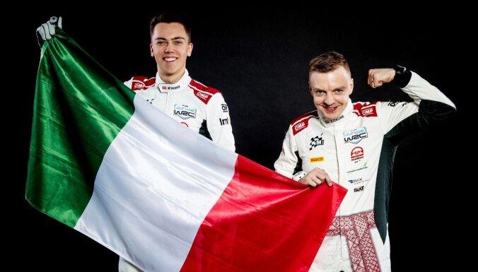 Seska ekipāža septītajā vietā junioru WRC etapa atklāšanas ātrumposmā