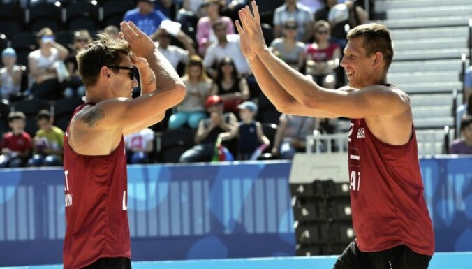 Сразу две латвийские пары пробились в Китае в полуфинал
