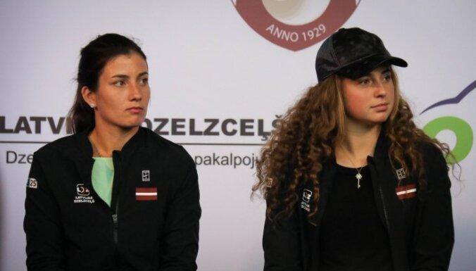 Latvijas tenisistes Federāciju kausā spēkosies ar pasaules grandu ASV