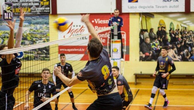 Nacionālā līga volejbolā aizsākta ar Jēkabpils, Ventspils un Kauņas komandu panākumiem