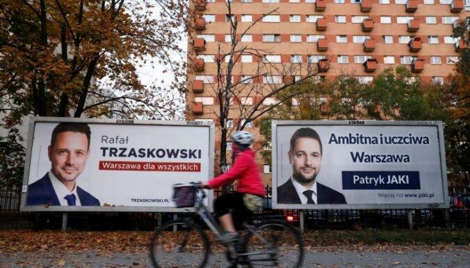 Mēra vēlēšanās Varšavā uzvarējis 'Pilsoniskās platformas' kandidāts