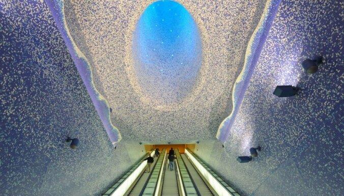 Kosmoss pazemē jeb 15 neparastākās Eiropas metro stacijas